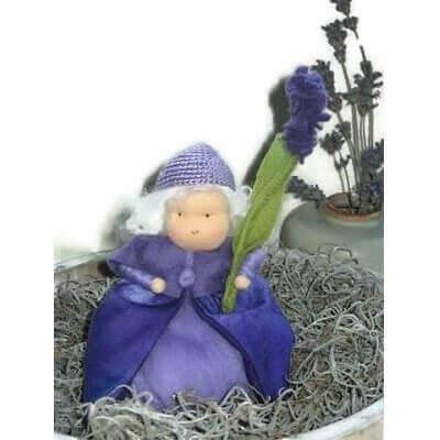 Lavendel popje gemaakt van wol en vilt