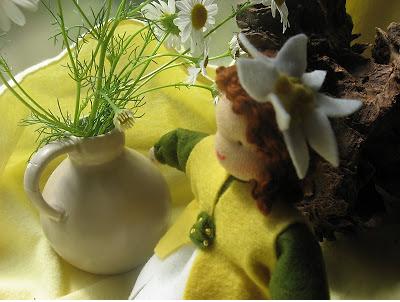 Margriet vilt popje op de Seizoentafel