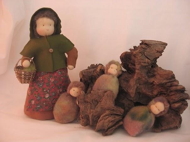 vilten popjes voor de seizoentafel