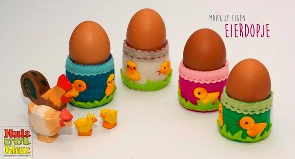 Gratis vilt patroon eierdopjes Huis vol kleur
