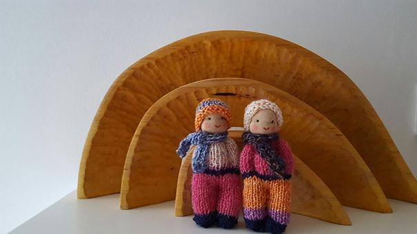 Atelier de Vier Jaargetijden gebreide popjes