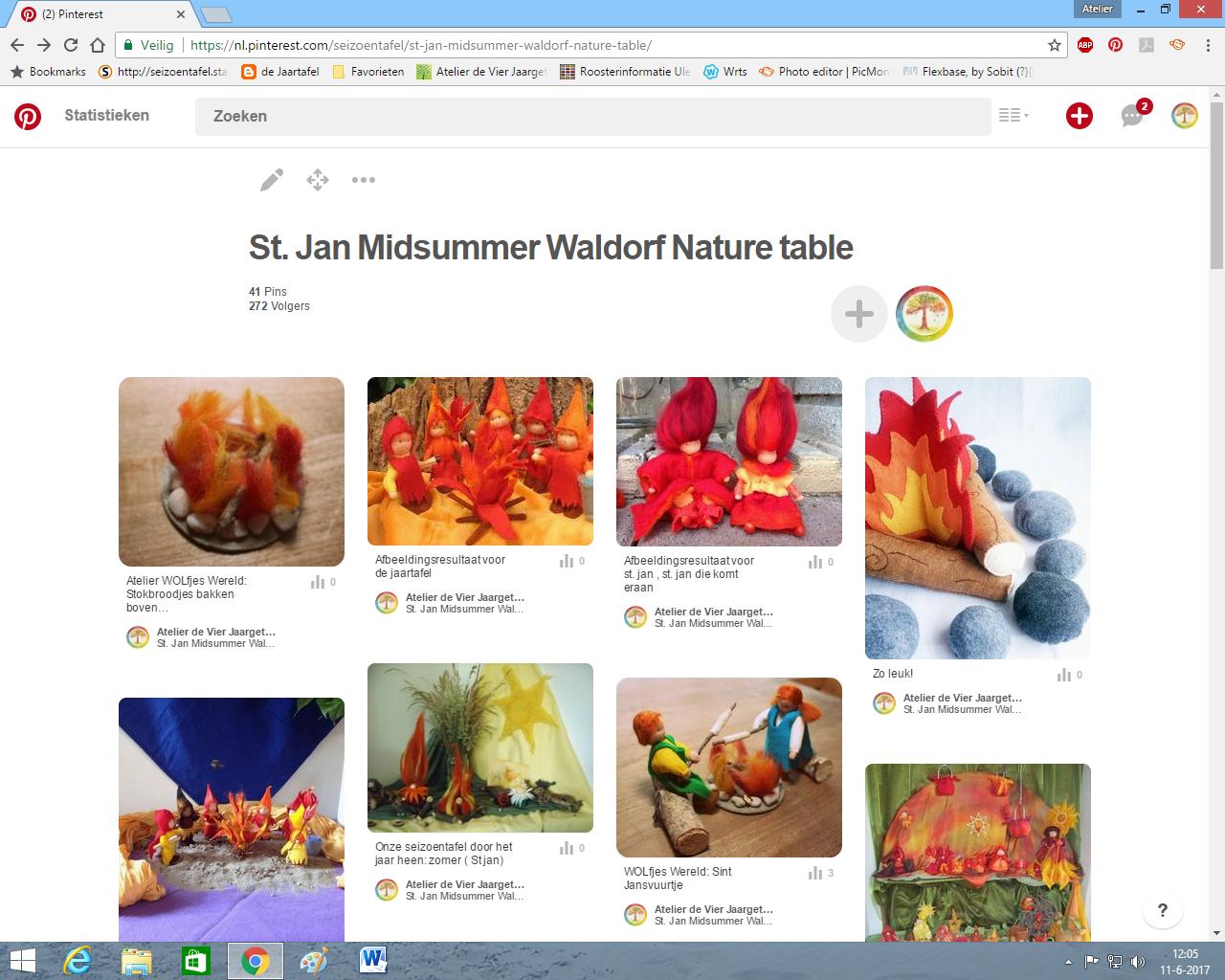 Sint Jan waldorf nature table Atelier de Vier Jaargetijden
