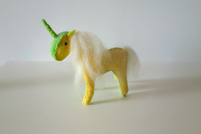 Felt unicorn free felt pattern diy tutorial