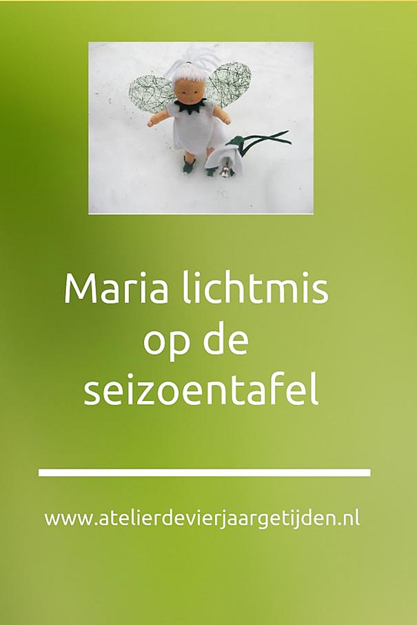 Maria Lichtmis op de seizoentafel