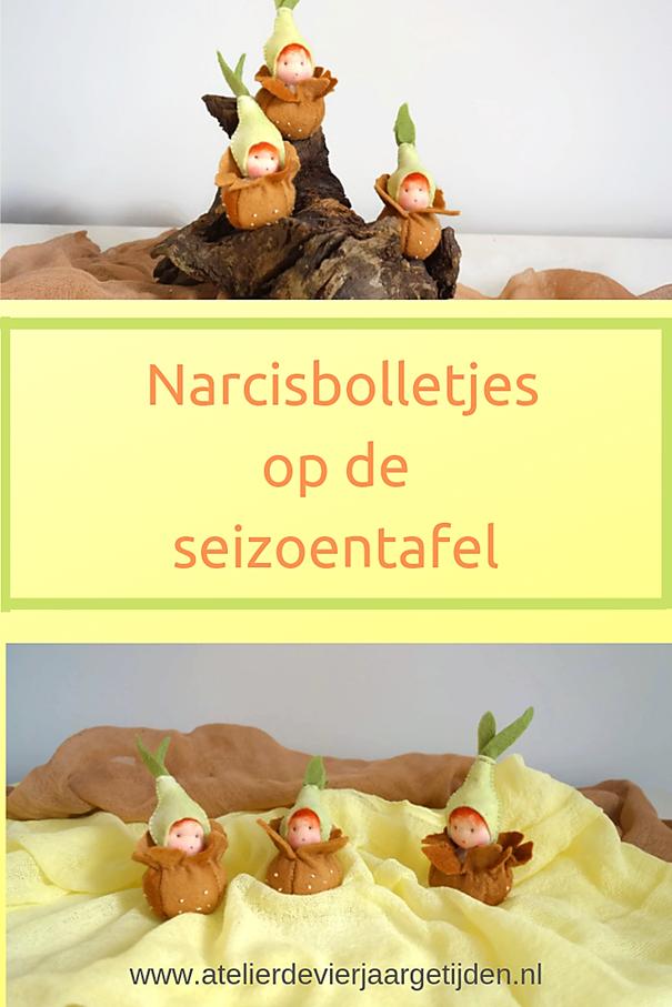 Narcis bolletjes op de seizoentafel