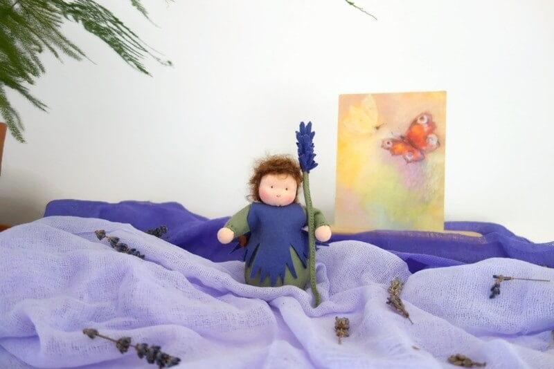 Duurzaam lavendel seizoentafelfiguur