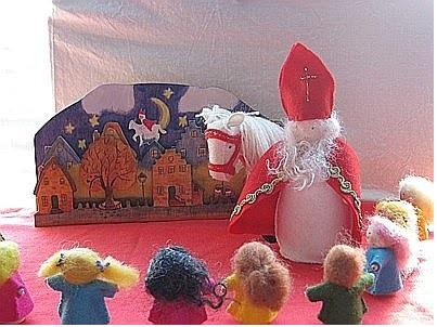 Houten plaat Sinterklaas
