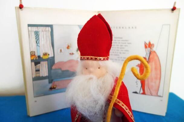 Sinterklaas vilt figuur