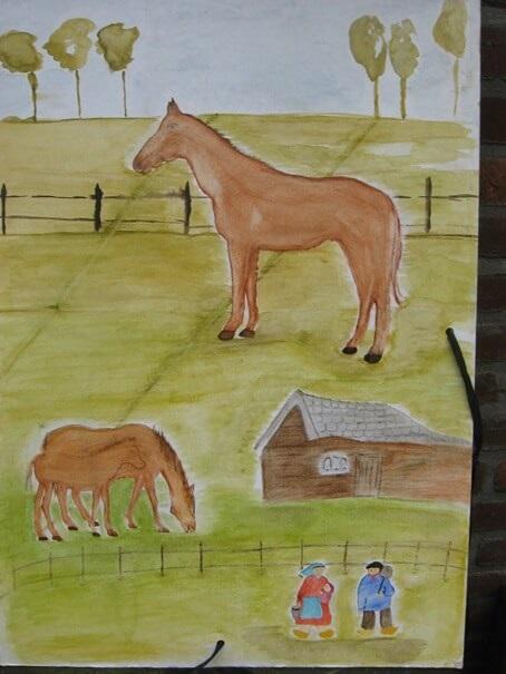 Tekenmap met paarden als sinterklaas cadeau op de vrije school