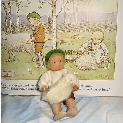 Pelle en zijn lam op de seizoentafel