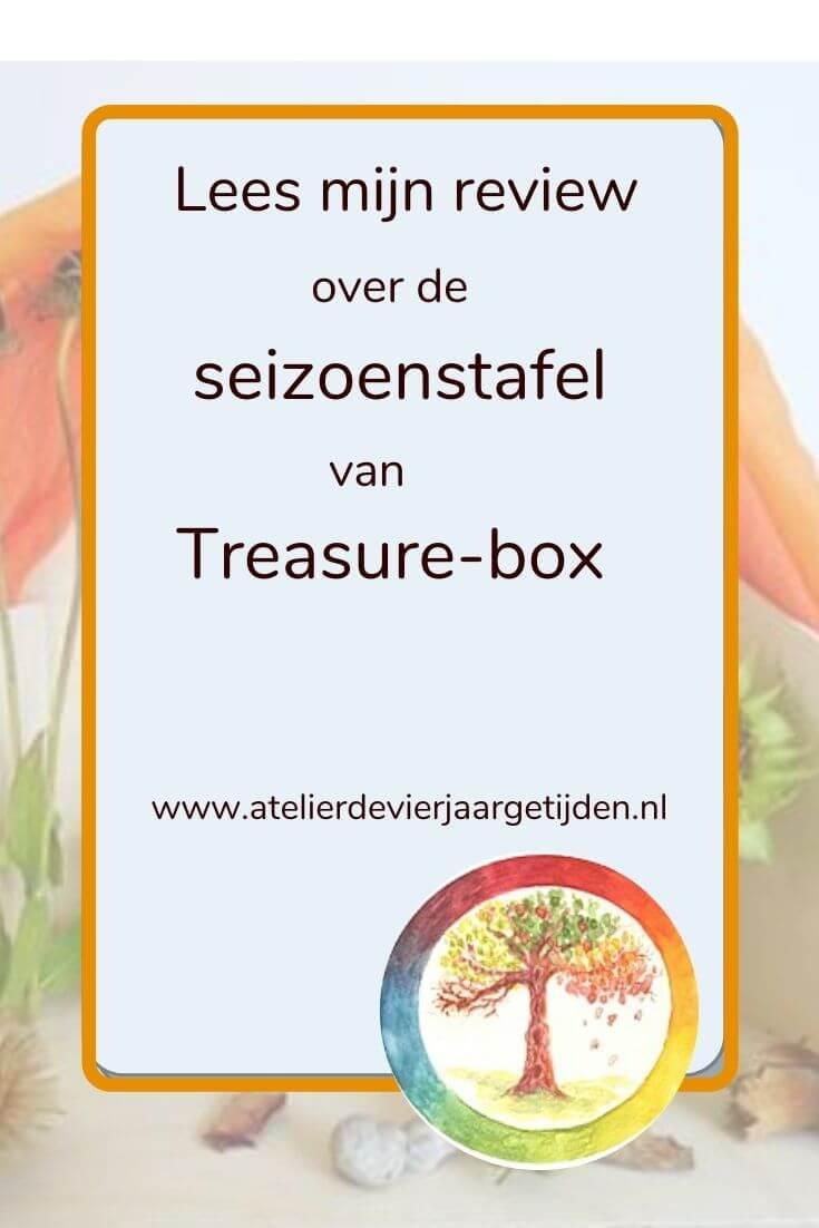 Review seizoenstafel Treasure-box door Atelier de Vier Jaargetijden